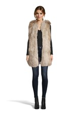 BB Dakota Fur-ther Ado Fur Vest Ivory