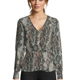 Cupcakes and Cashmere Jasper Print Blouse Forest