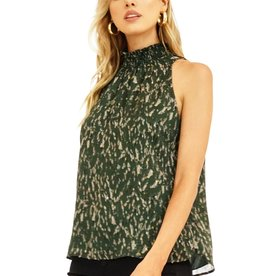 Veronica M Smocked Neck Halter Green