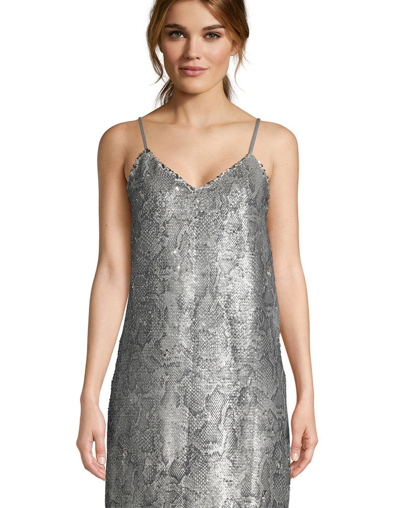 Candice Sequin Dress Latte