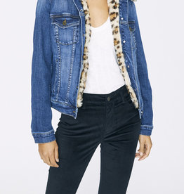 Kylie Faux Fur Denim Jacket
