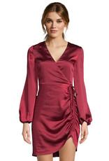 Brooklyn Satin Dress Red