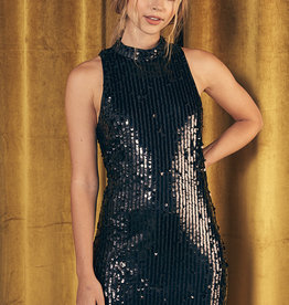 All-Over Sequin Dress Black