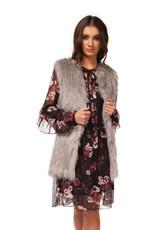 Fur Vest Storm Grey