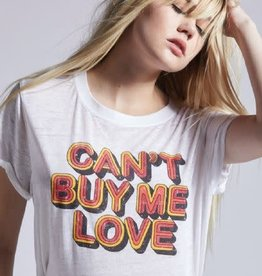 Recycled Karma Can't Buy Me Love Tee White