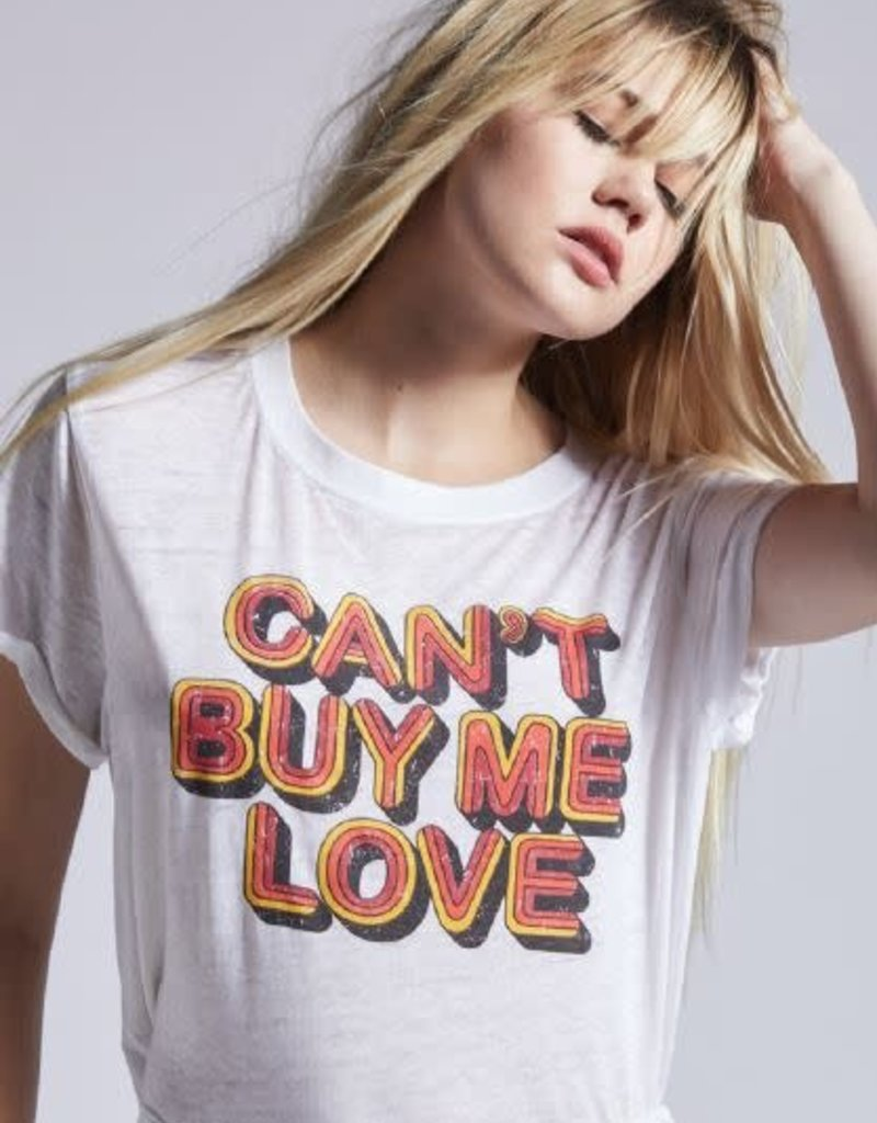 Can't Buy Me Love Tee White
