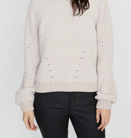 Chenille Out Sweater Light Pearl