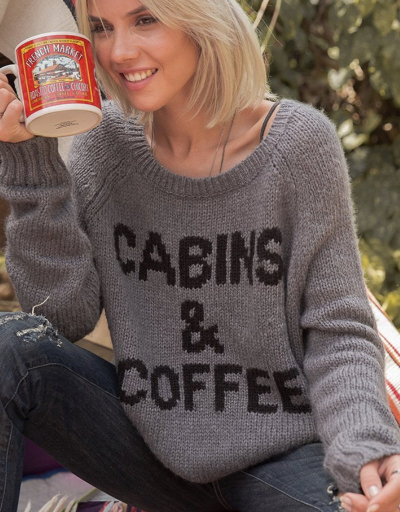 Cabins & Coffee Pullover Gunmetal