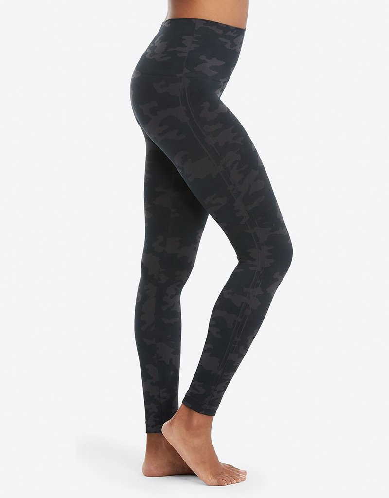 Faux Leather Legging Camo Black