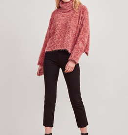 Eyelash Kisses Sweater Scarlet