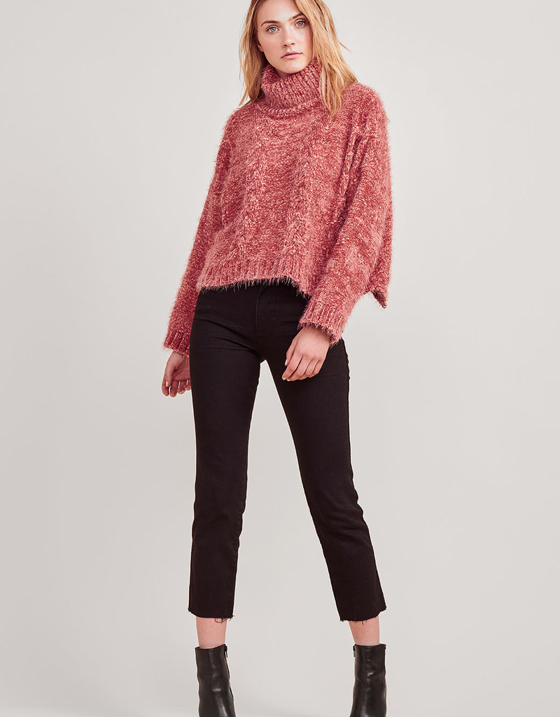 Eyelash Kisses Sweater Scarlet