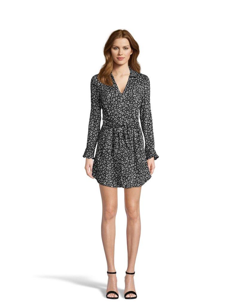 Cat's All Folks Leopard Dress Black