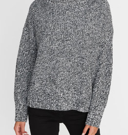 Roll Neck Sweater Heather Black
