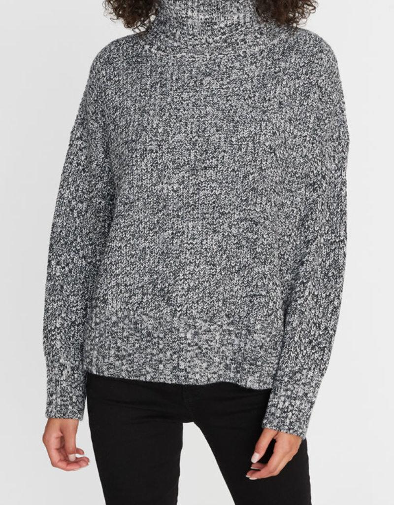 Roll Neck Sweater Heather Black