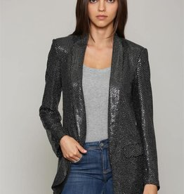 Sequin Blazer Black