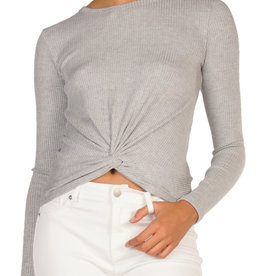 Twist Front Top Grey