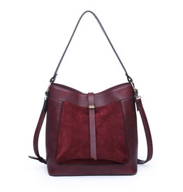 Sueded Pocket Hobo Bag