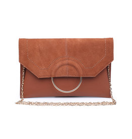 Sueded Ring Clutch