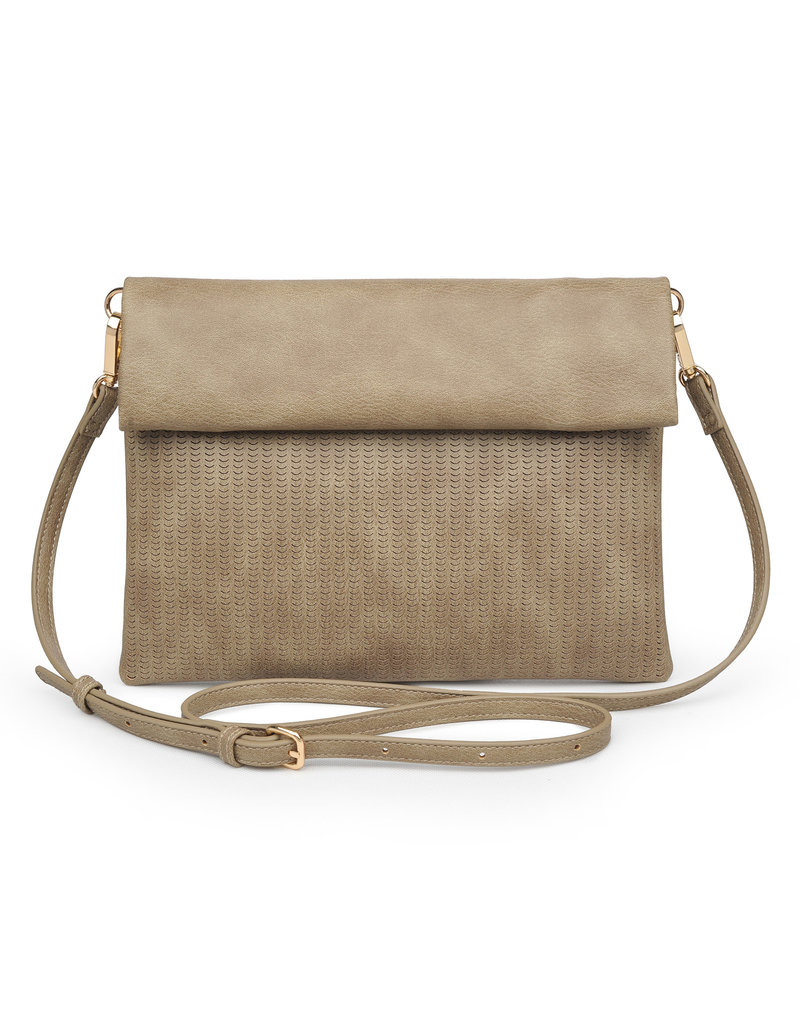 Perforated Foldover Clutch