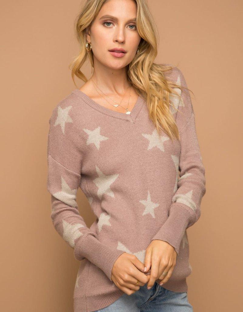 Star Sweater Mauve