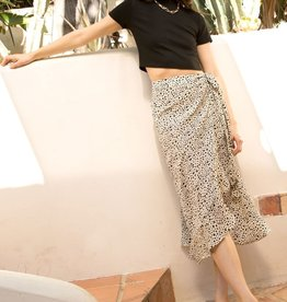 Animal Print Skirt Cream