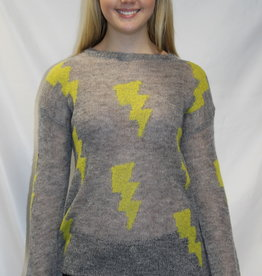 Lightning Bolt Sweater Grey