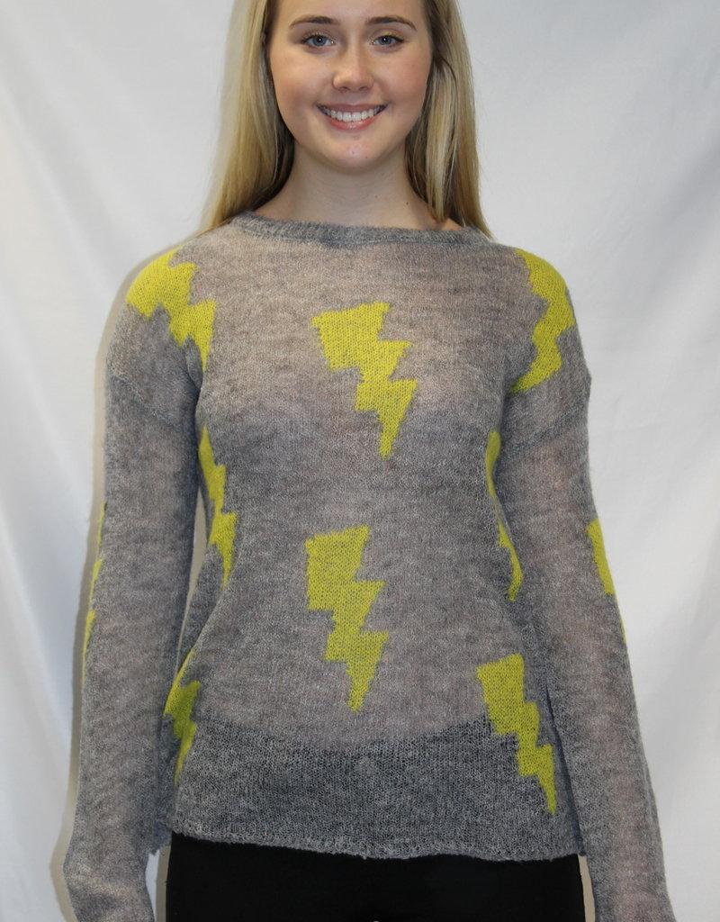 Lightning Bolt Sweater Grey