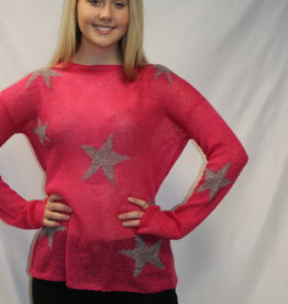 Star Print Sweater Grey