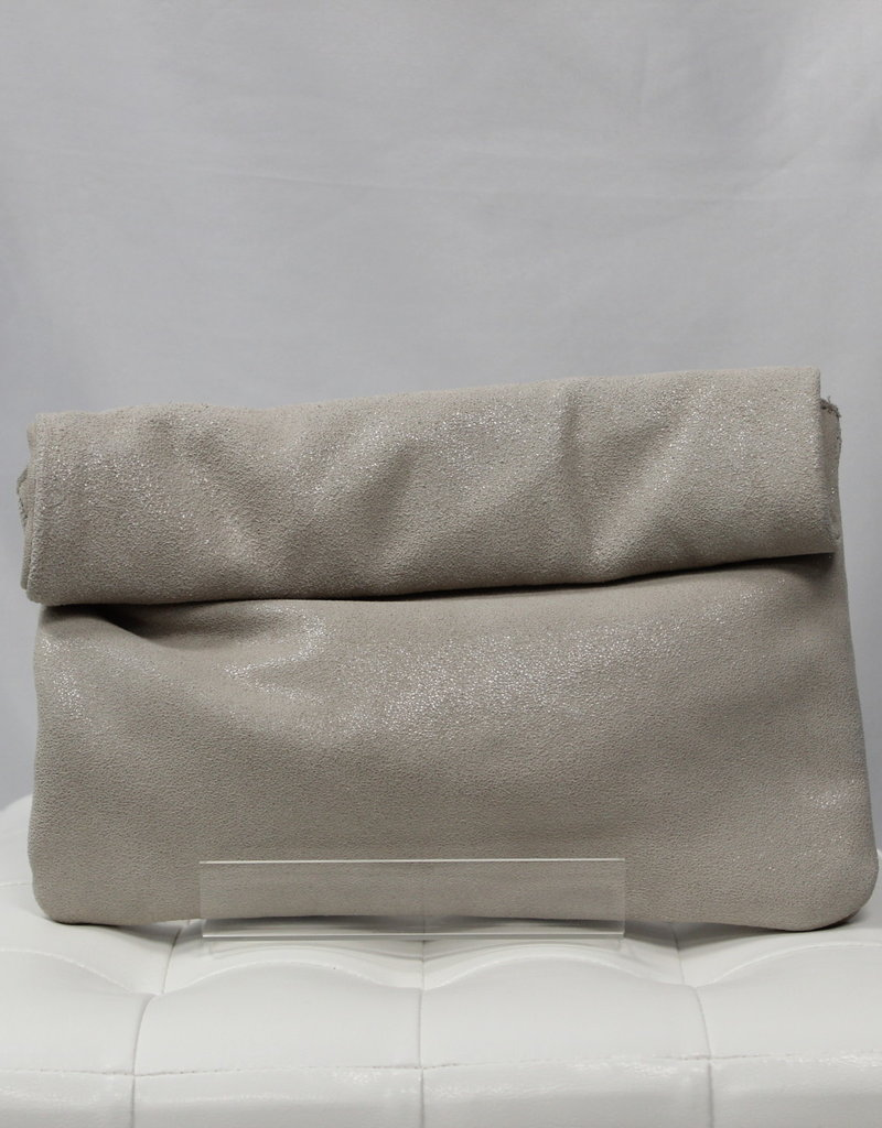 Shimmer Rolled Clutch
