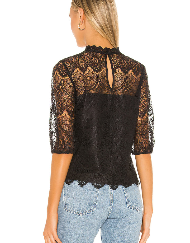 Icing On Top Blouse Black