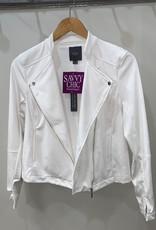 Suede Jacket White