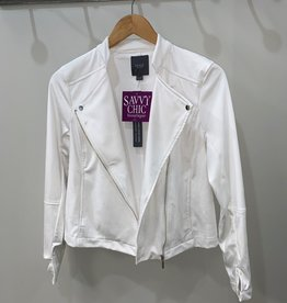 Suede Jacket White
