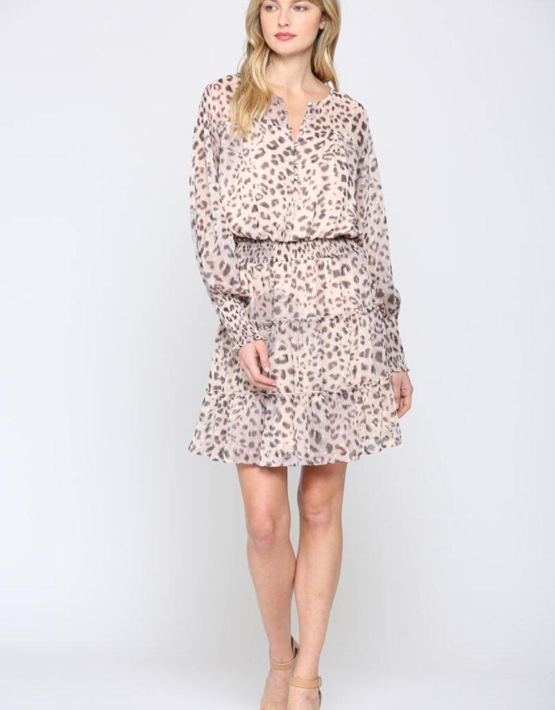 Smocked Waist Print Dress