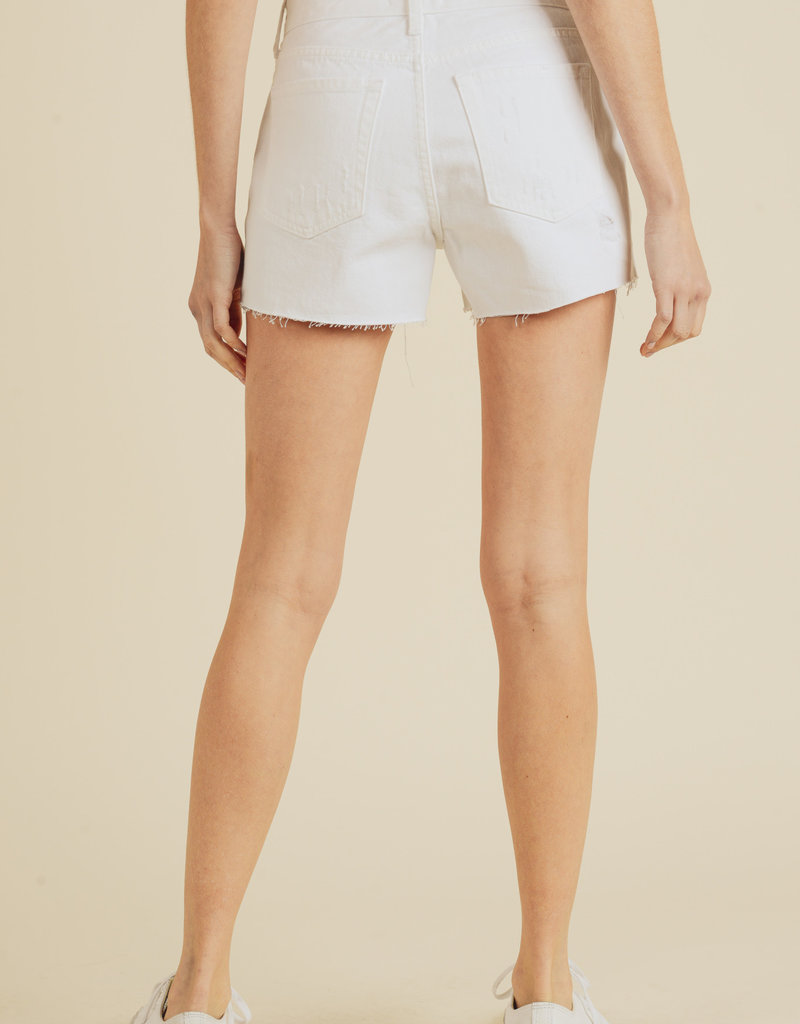 Hr Destructed Short White