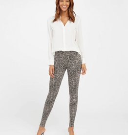 Jean-ish Ankle Legging Taupe Snakeskin