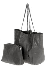 Chain Suede Tote