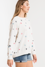 Distressed Star Pullover