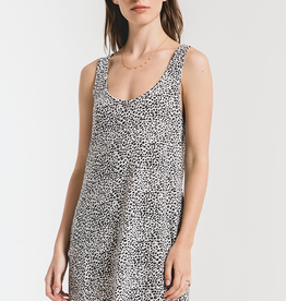 Mini Leopard Dress Off White
