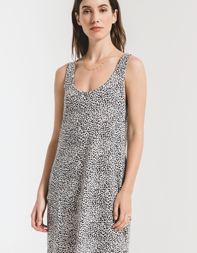 Mini Leopard Dress Off White