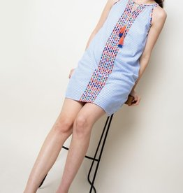Halter Stripe Dress Blue