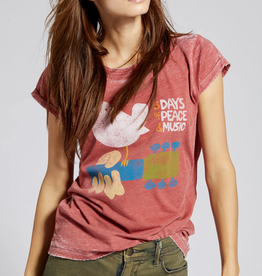 Woodstock Peace Tee Red