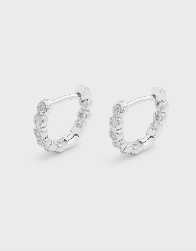 Madison Shimmer Huggies Earrings