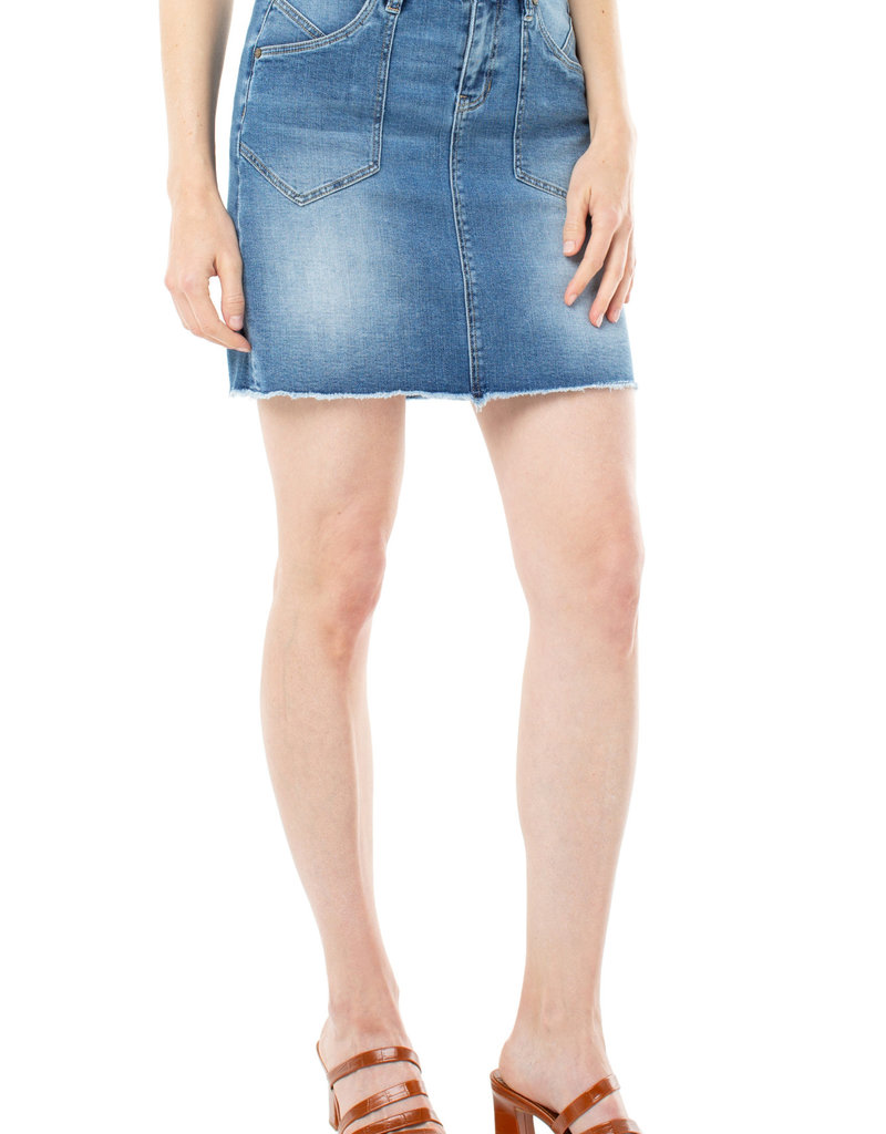 Patch Pocket Denim Skirt