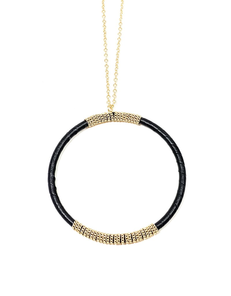 Kate Wrapped Circle Necklace