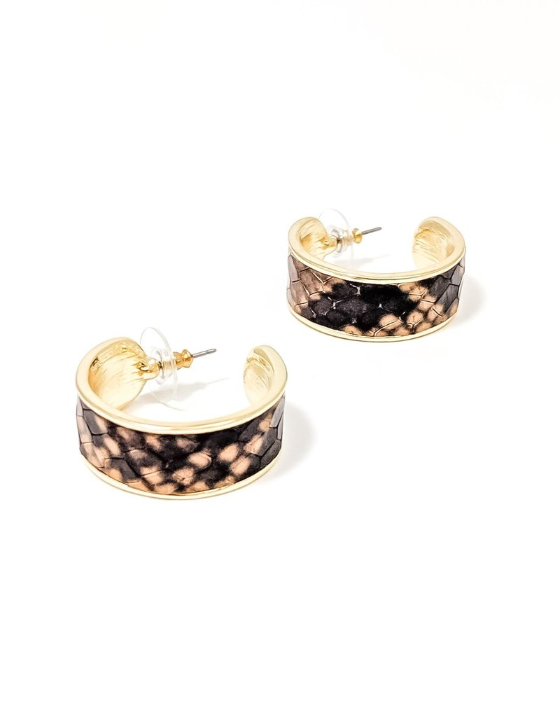 Peyton Animal Hoop Earring