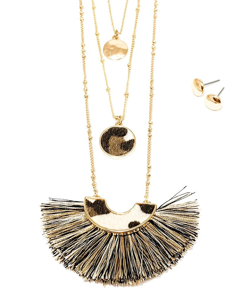 Triple Animal Necklace with Tassel