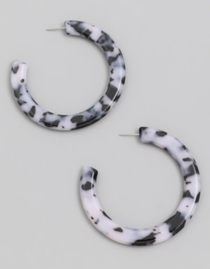 Large Flat Hoop Earring