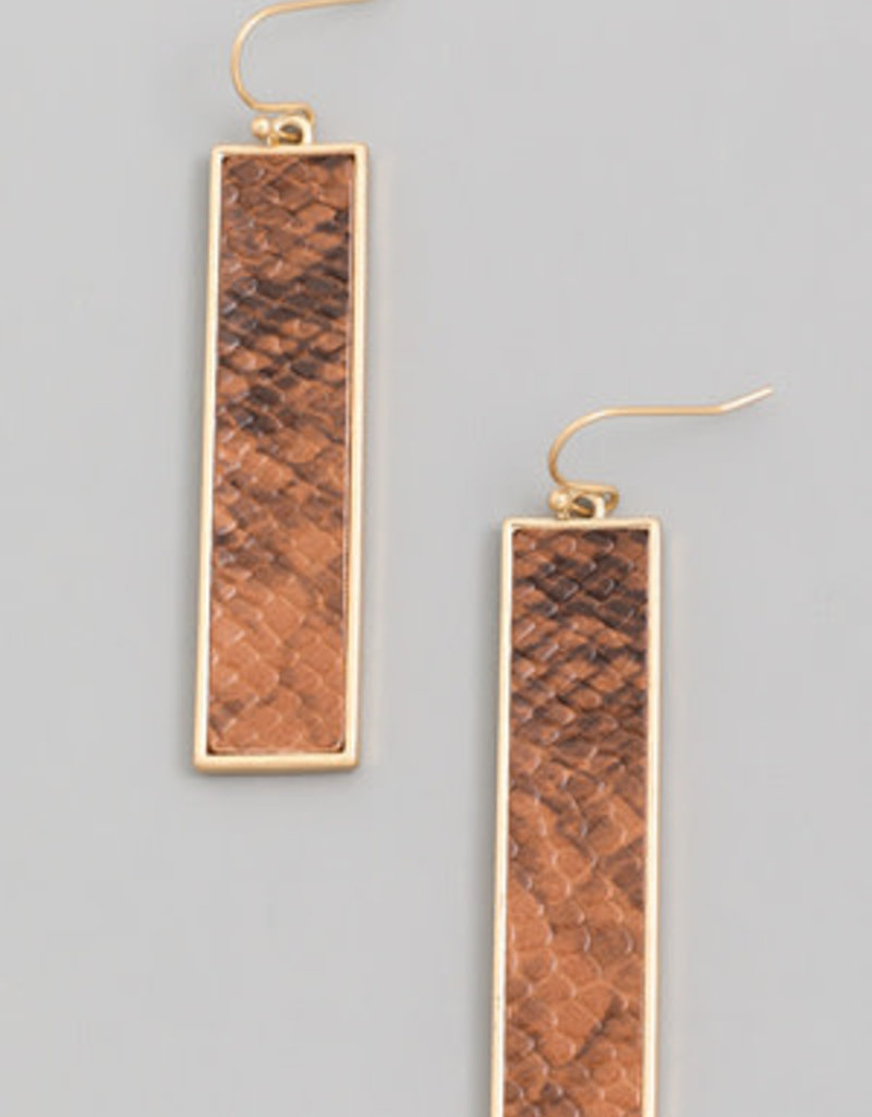 Animal Bar Drop Earring