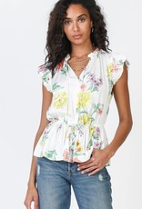 Printed Sleeveless Blouse Floral