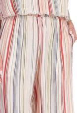 Strapless Jumpsuit Multi Stripe